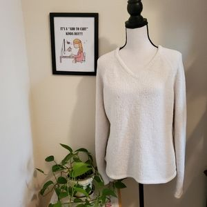 Real Comfort Cream Sweater Size Large